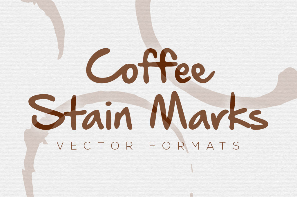Coffee Stain Marks 5 Vector and PNG Versions
