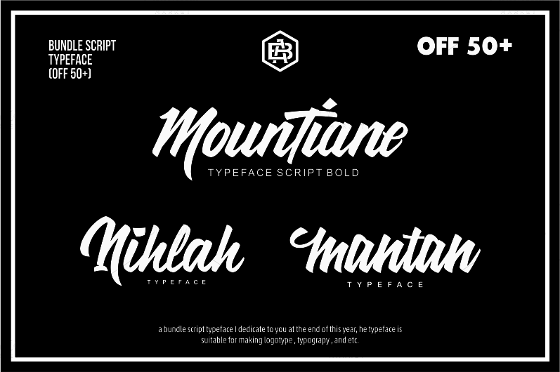 Bundle Script Typeface (off 50+)