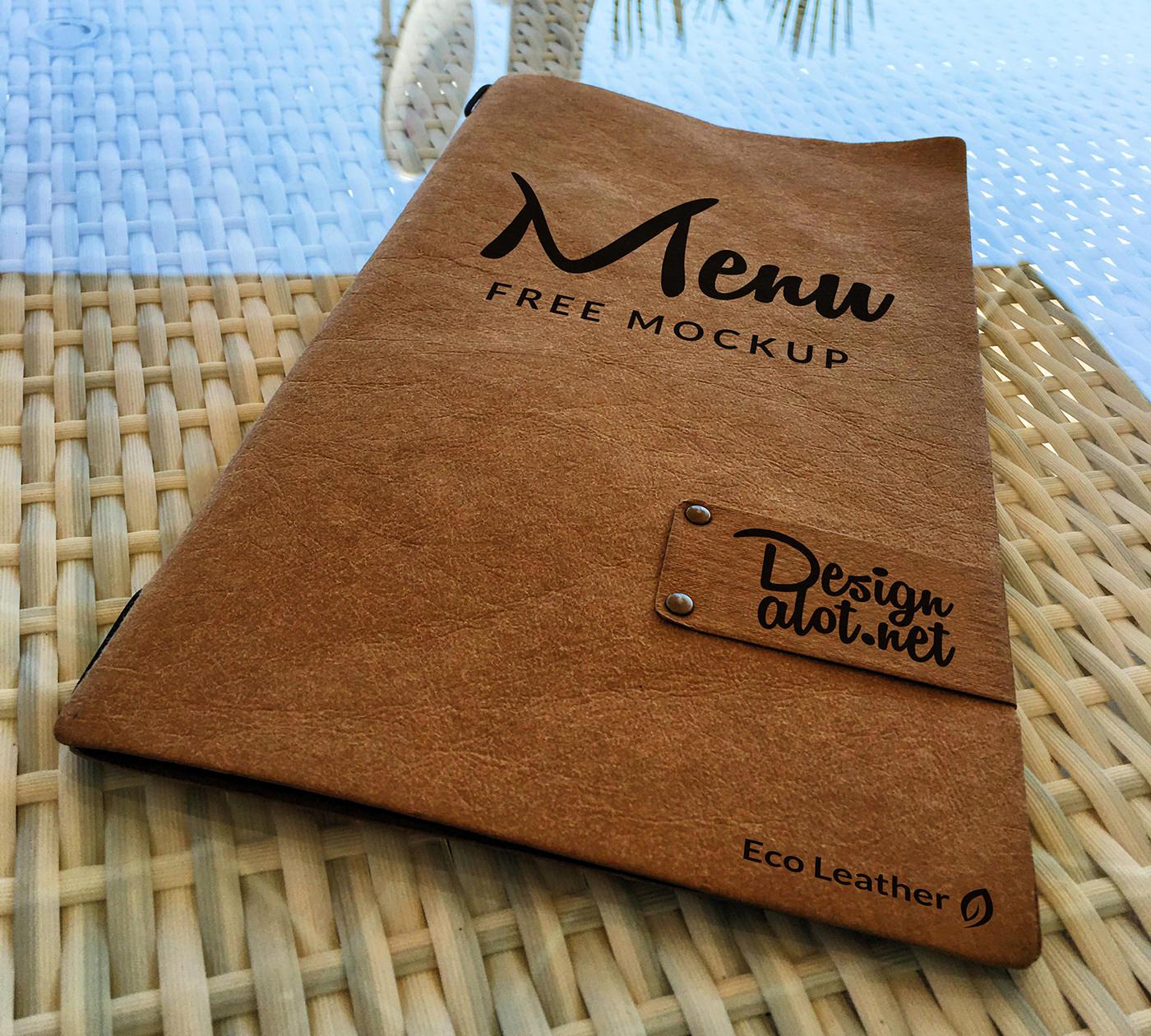 eco leather menu free mockup design a lot