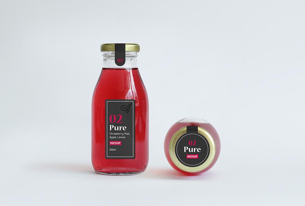 Juice Bottle Packaging Free Mockup