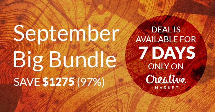 September BIG Bundle by Creative Market