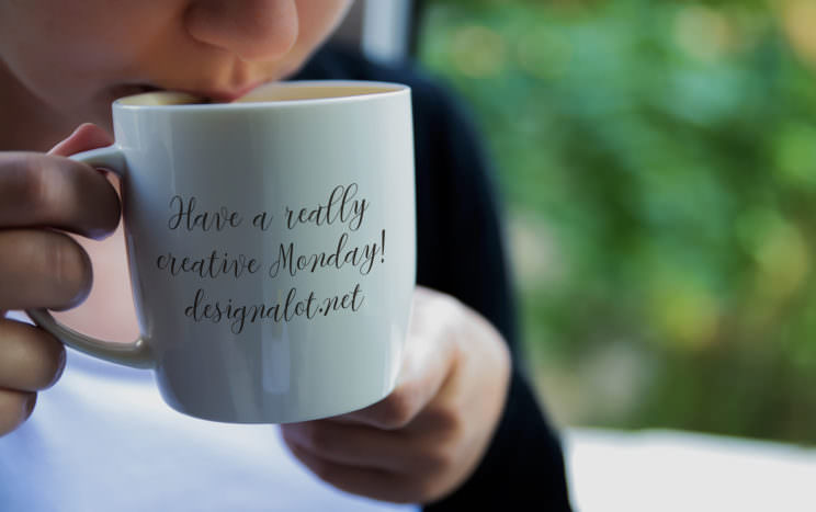 model-drinking-from-coffee-mug-mockup
