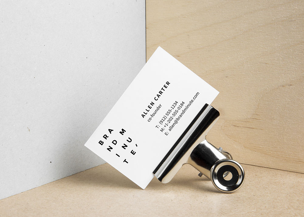 Realistic Clip Business Card Mockup » Design a Lot