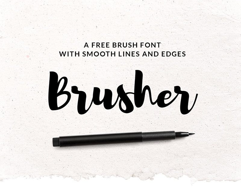 brusher-free-font-cover