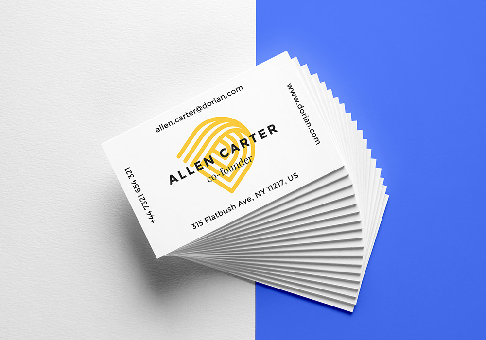 Realistic Stack of Business Cards Mockup