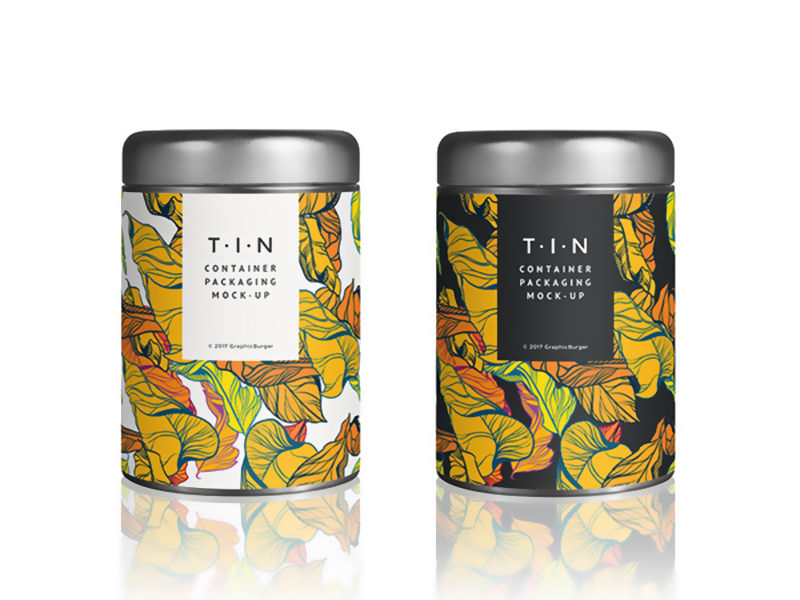 Tin Container Free Packaging Mockup
