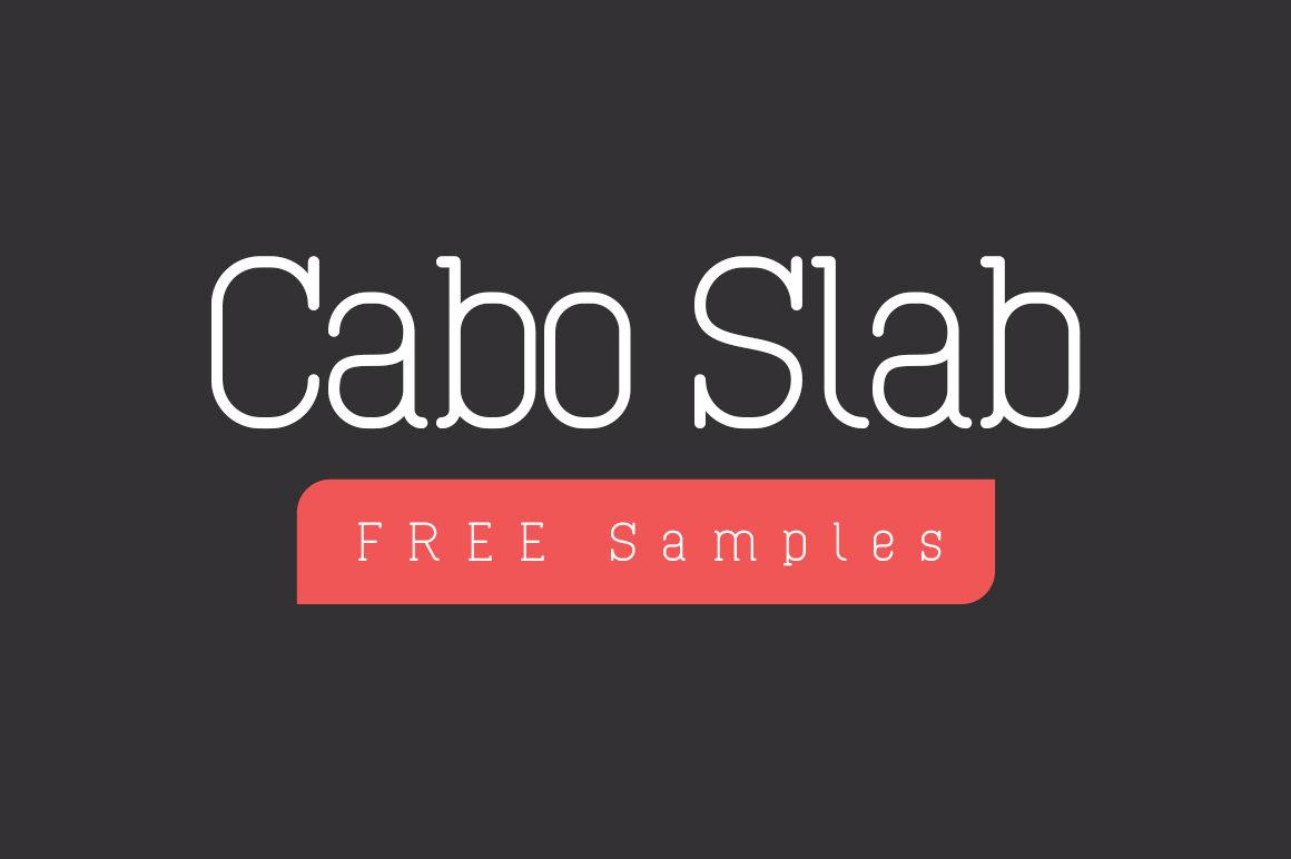 Cabo Slab Free Font Samples Design A Lot