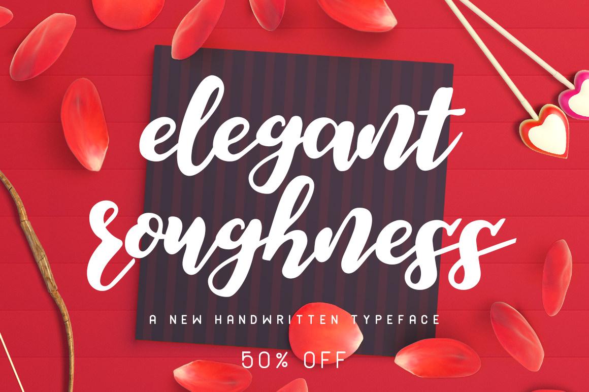 Elegant Roughness Typeface