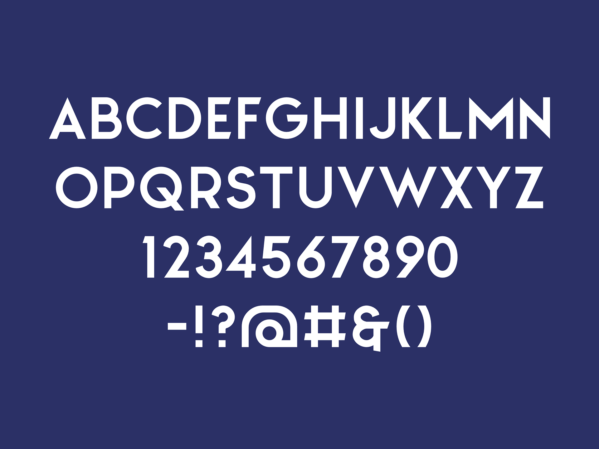 north-free-font-alphabet