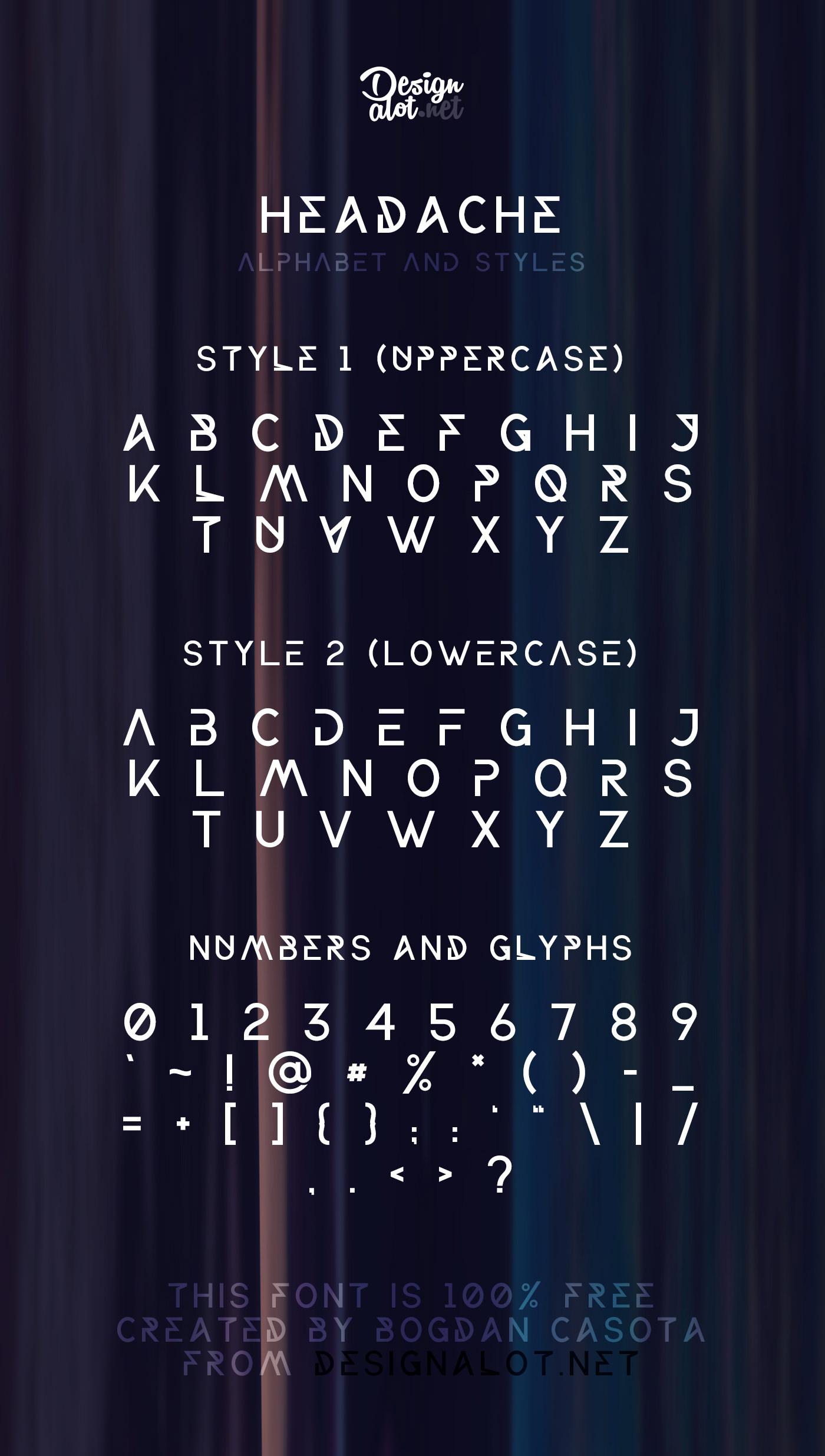 headache-free-font-preview