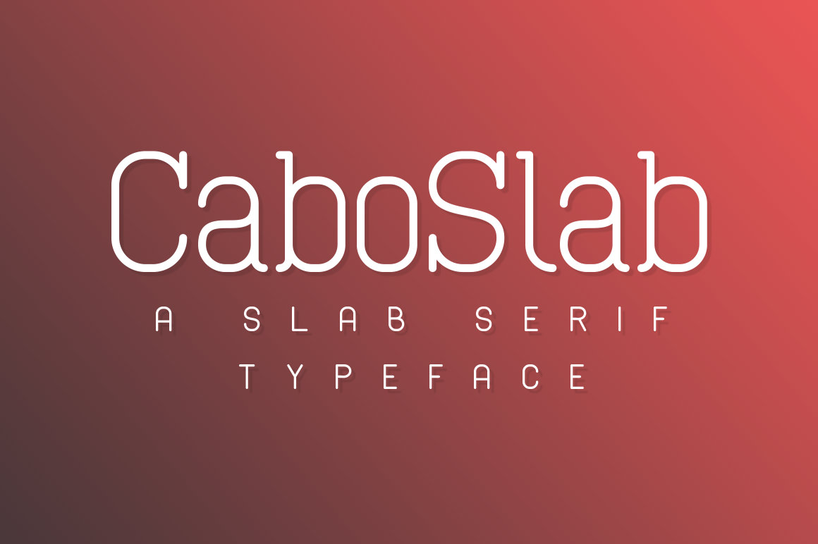 Cabo Slab Typeface Red Cover