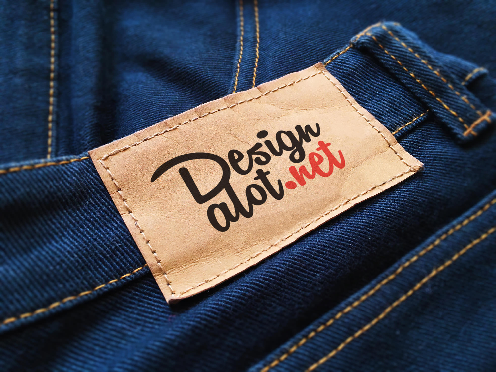 7 jeans and pants label mockups design a lot
