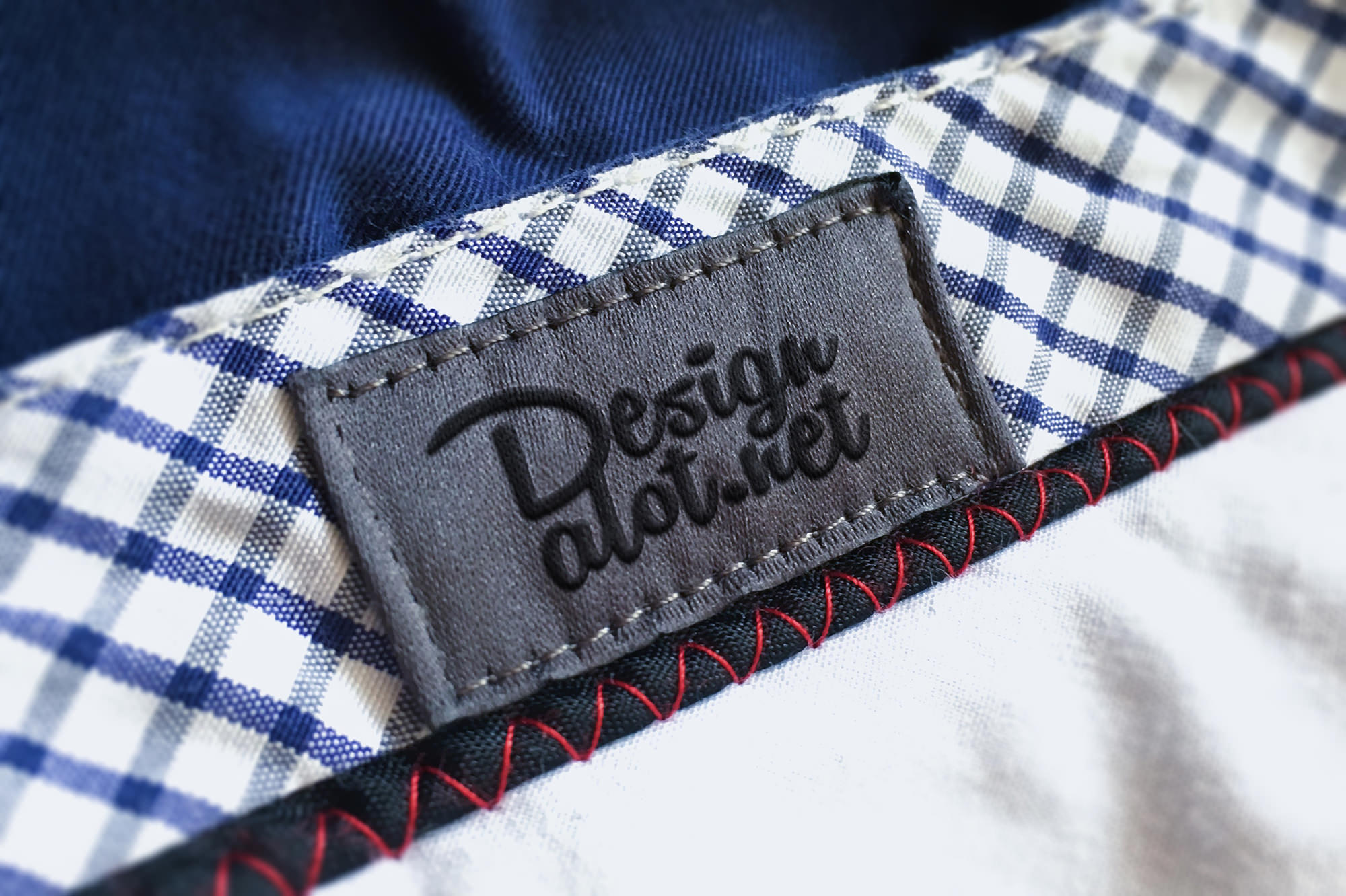 Pants Canvas Embroidered Label Mockup