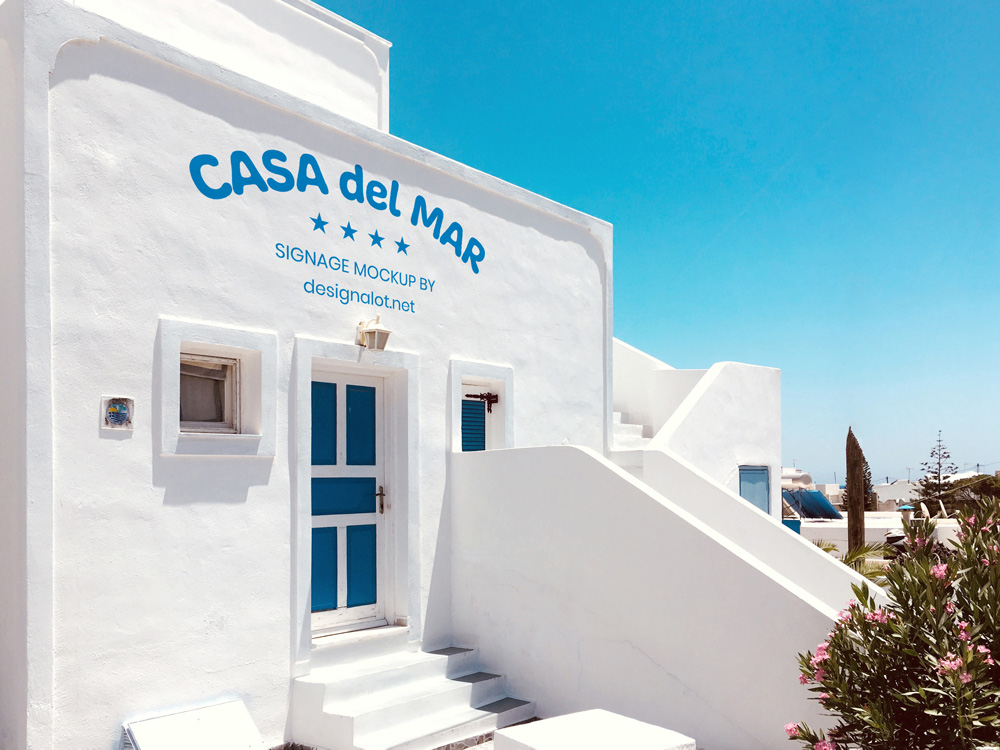Outdoor Signage Mockup on Greek Style House Featured Image