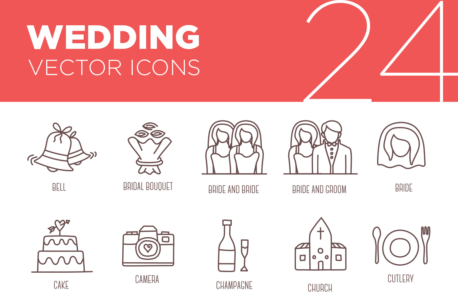 24 Free Wedding Vector Icons