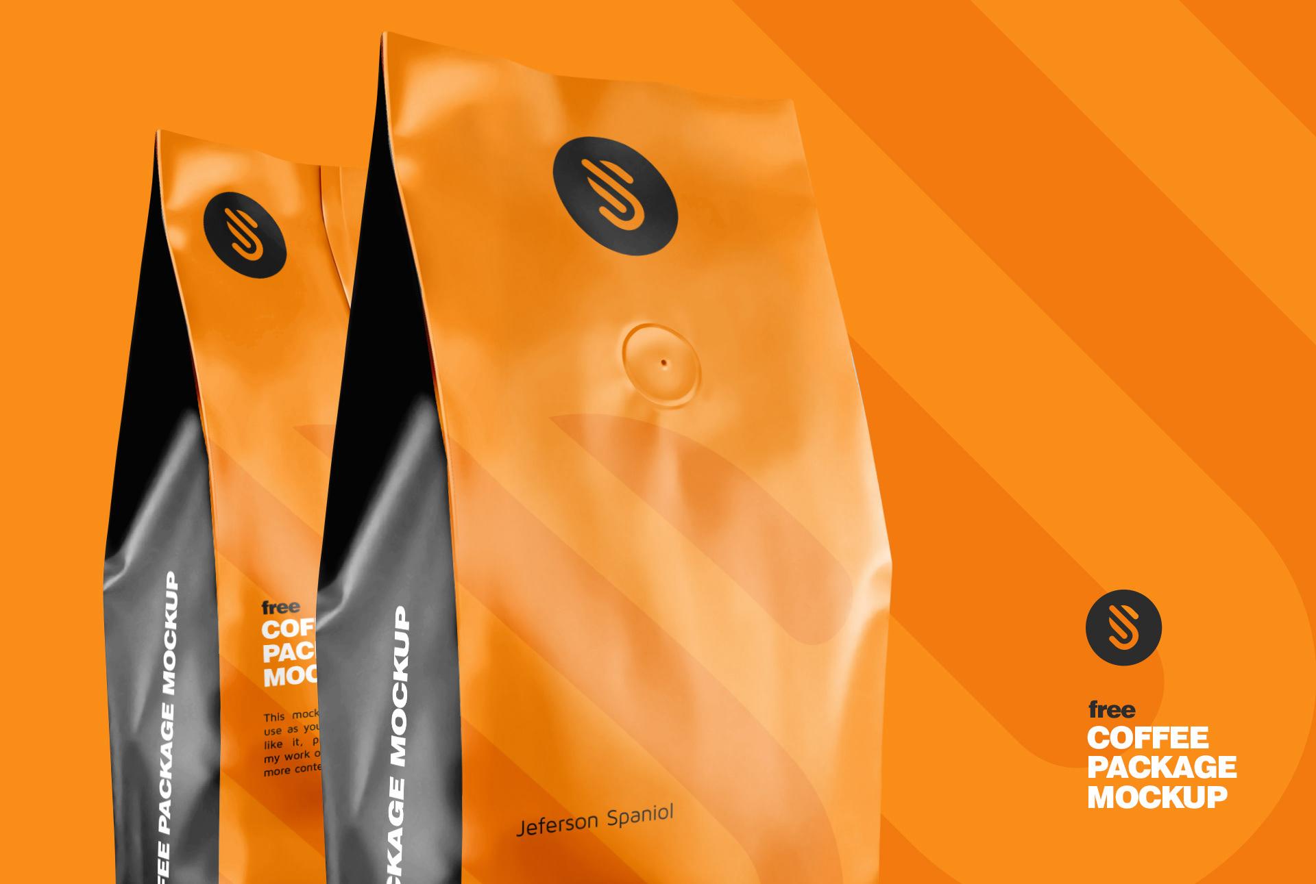 Coffee Package Free Mockup