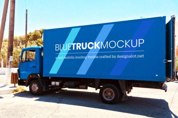 blue-truck-realistic-mockup-designalot