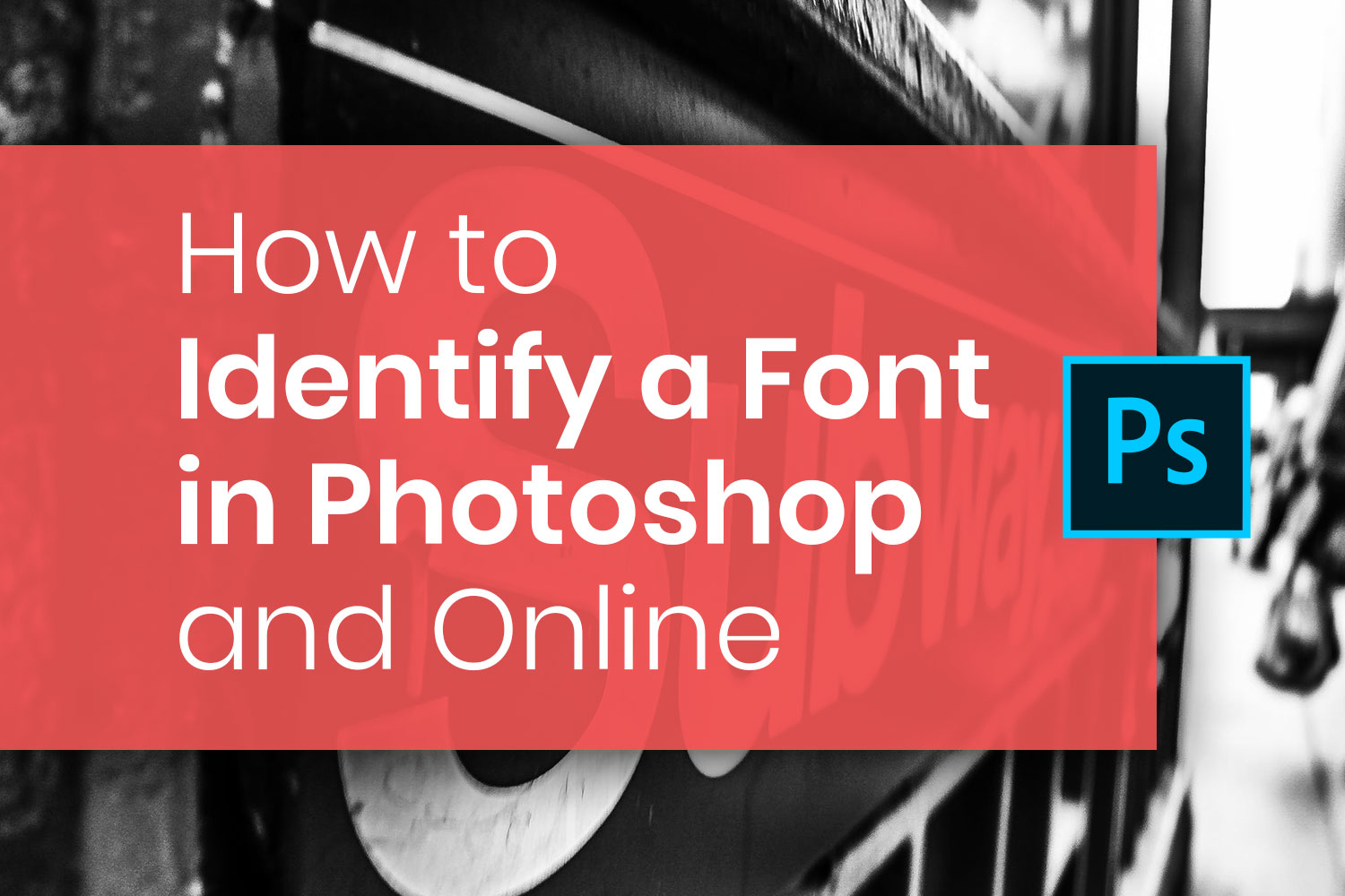 How to identify a font in Photoshop and online