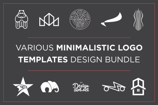 various-minimalistic-logo-template-design-bundle-preview